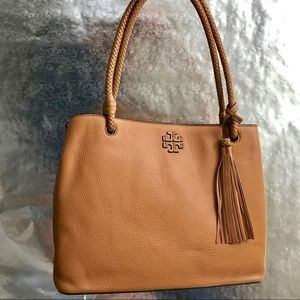 Tory Burch Taylor triple compartment Tote (saddle)